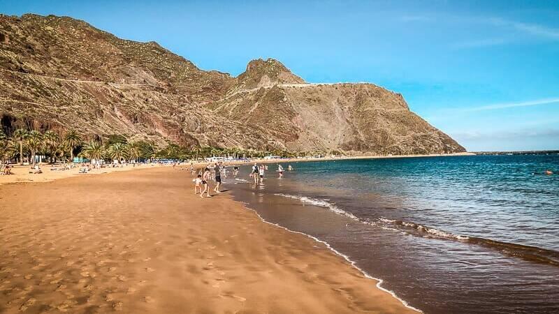 Teneriffa Playa de las Teresitas