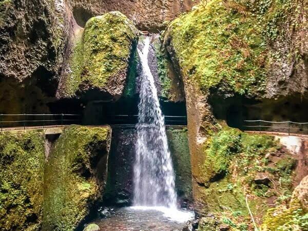 Portugal Madeira Levada Nova Wasserfall Wandern