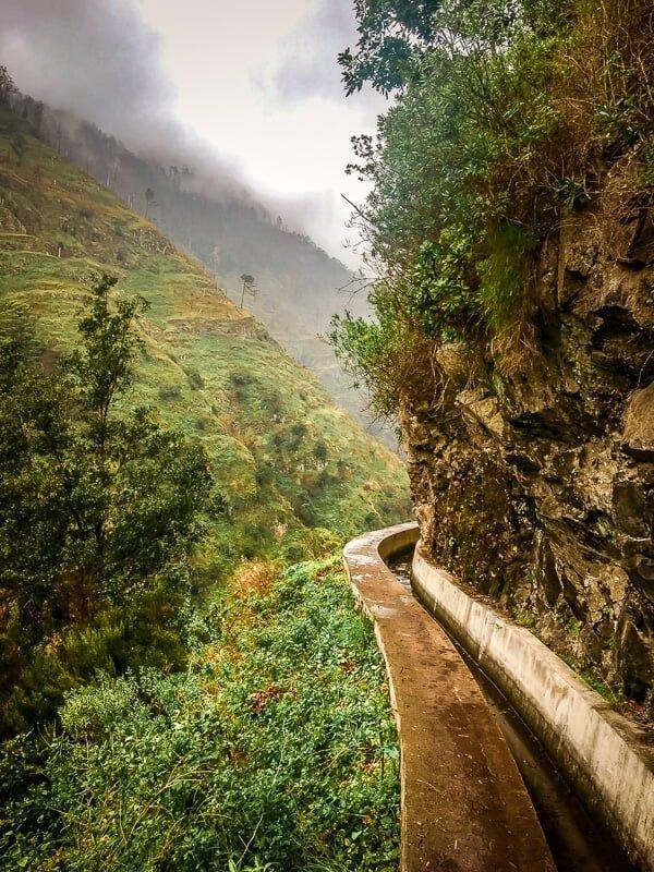 Portugal Madeira Levadamauer Levada Nova Wandern