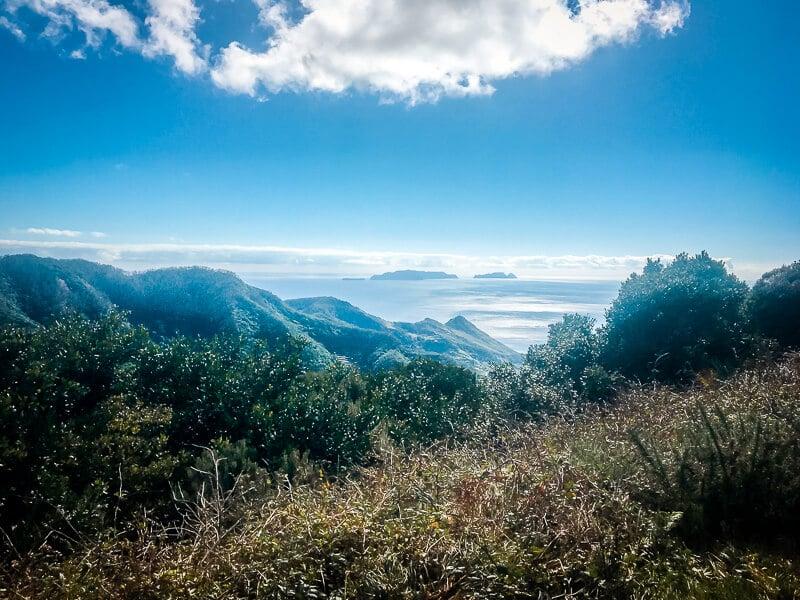 Portugal Madeira Portela Ausblick auf Porto Santo