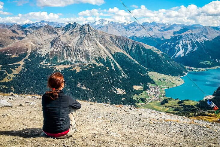 Alpe Adria Trail Reschensee Solo Wanderung