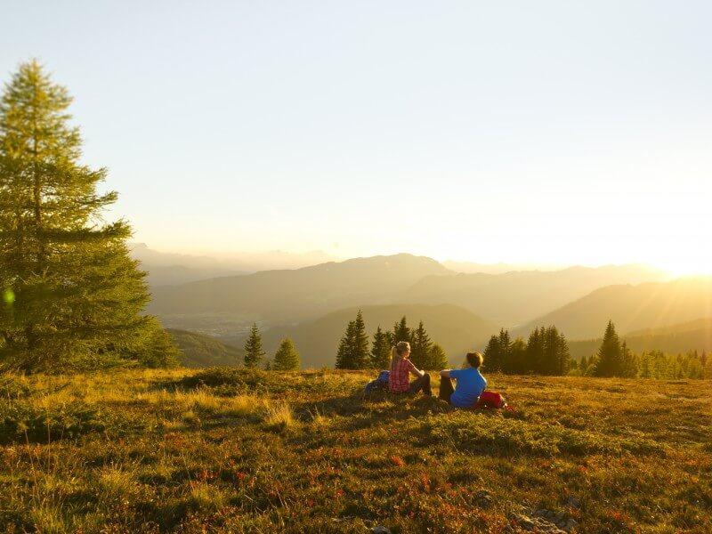 Alpe-Adria-Trail Sonnenuntergang Berge