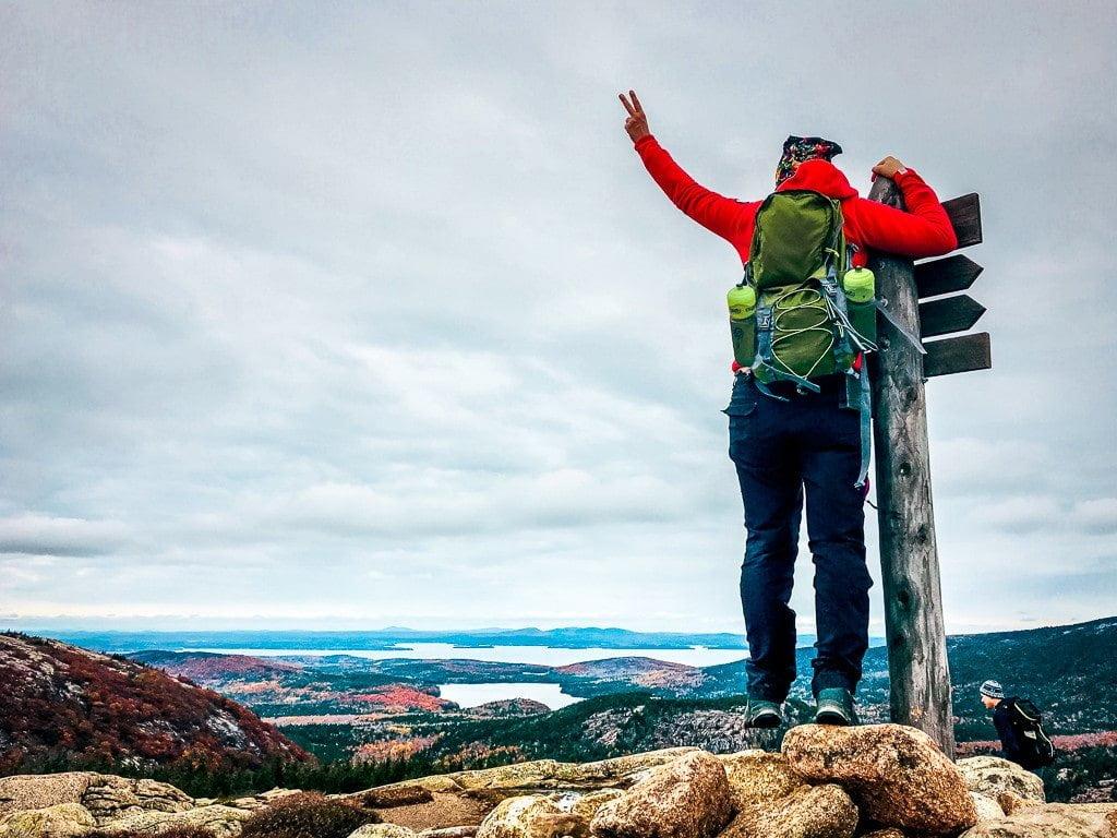 Acadia National Park Indian Summer Wanderung Penobscot Mountain Gipfel wandern