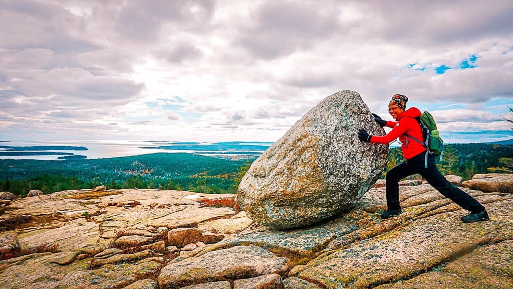 Acadia National Park Wandern Indian summer Penobscot Mountain