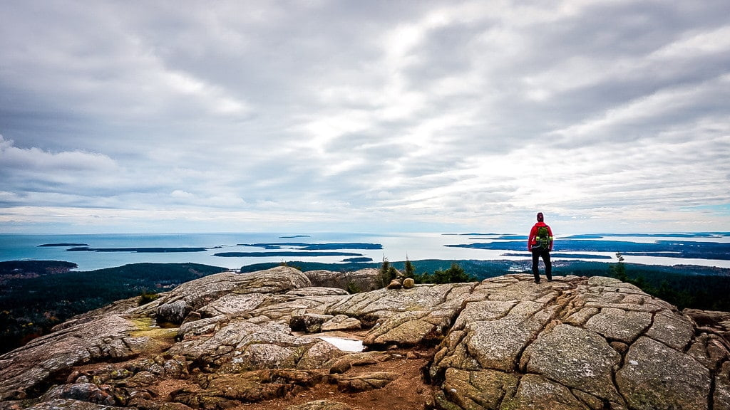 Acadia National Park Wandern Indian summer Penobscot Mountain Ausblick