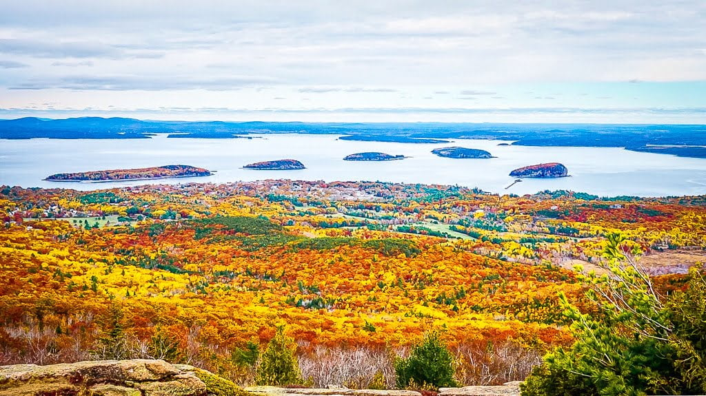 Acadia National Park Cadillac Mountain Indian summer wandern