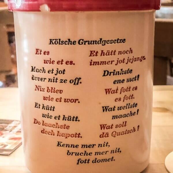 Köln Sehenswürdigkeiten Brauhaus Kölsch Gelassenheit Toleranz Kölsches Grundgesetz