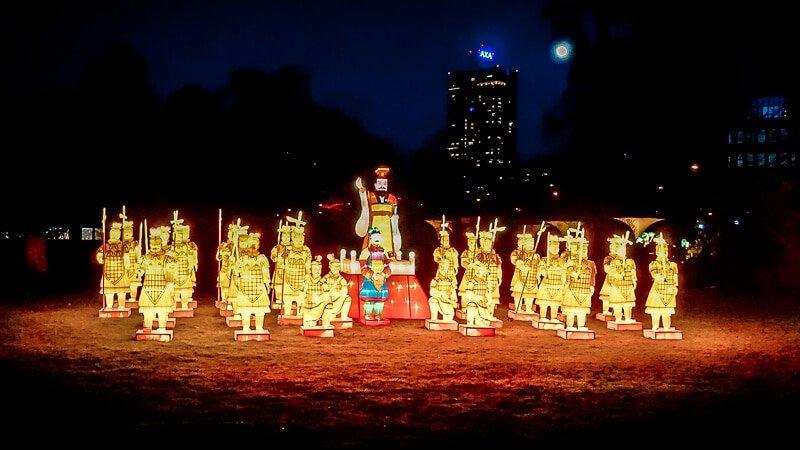 Köln Sehenswürdigkeiten China Light Festival Terrakotta Armee Nacht Lichter