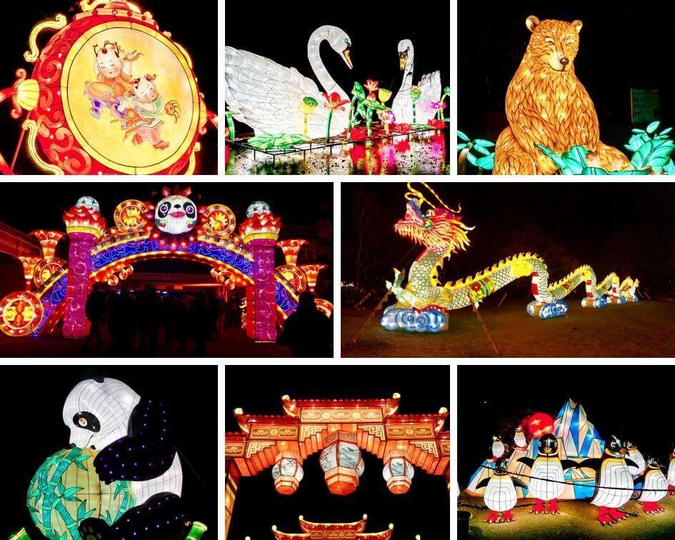 Köln Sehenswürdigkeiten China Light Festival Impressionen Nacht Lichter