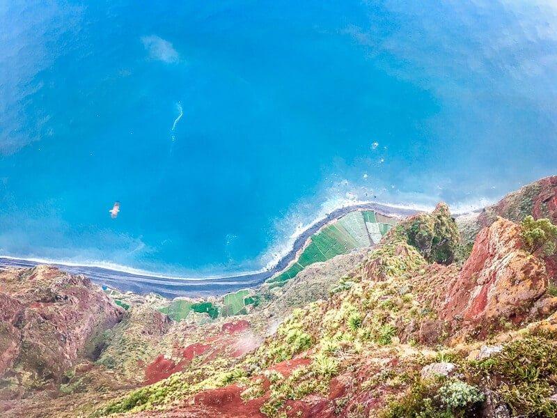 Portugal Madeira Sehenswürdigkeiten Cabo Girao Meerblick Steilküste Bananen