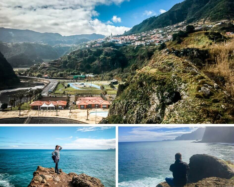 Portugal Madeira Sehenswürdigkeiten Faial Mirador Steilküste Atlantik