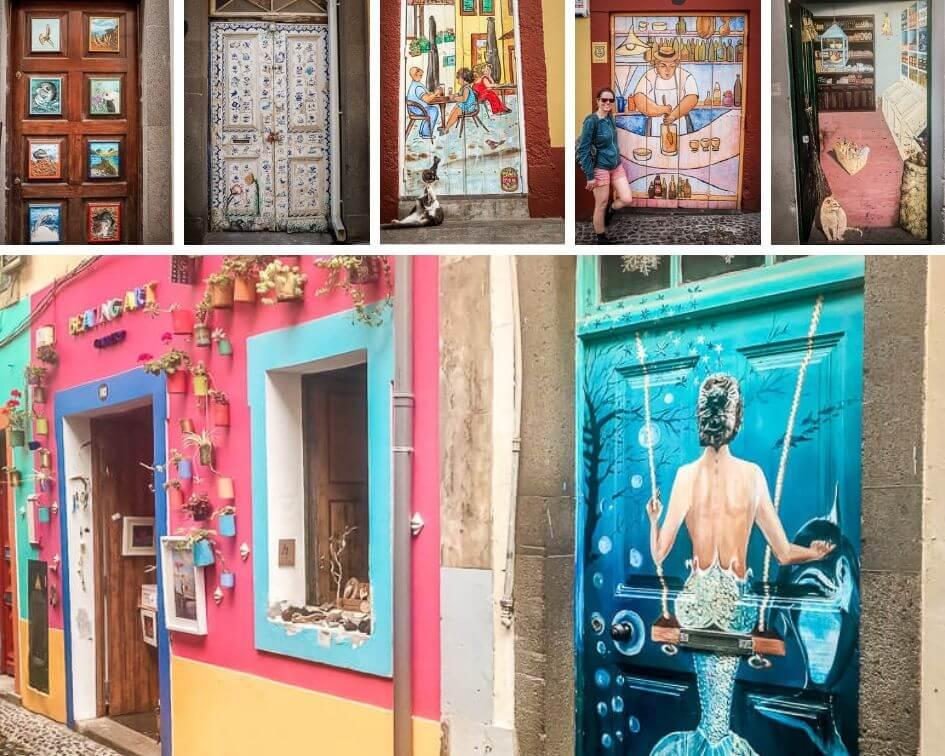 Portugal Madeira Sehenswürdigkeiten Funchal Altstadt Türen