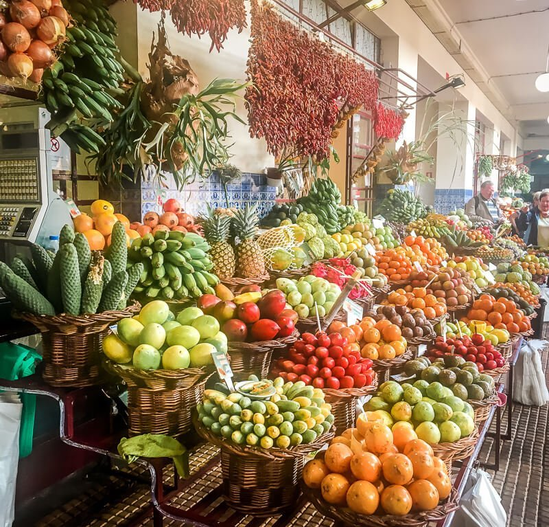Portugal Madeira Sehenswürdigkeiten Funchal Mercado dos Lavradores