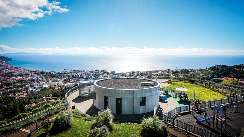 Portugal Madeira Sehenswürdigkeiten Funchal Miradouro Meerblick