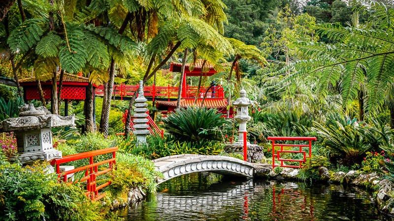 Portugal Madeira Sehenswürdigkeiten Monte Tropical Palace Garten