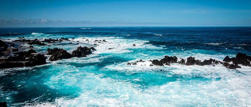 Portugal Madeira Sehenswürdigkeiten Porto Moniz Meer