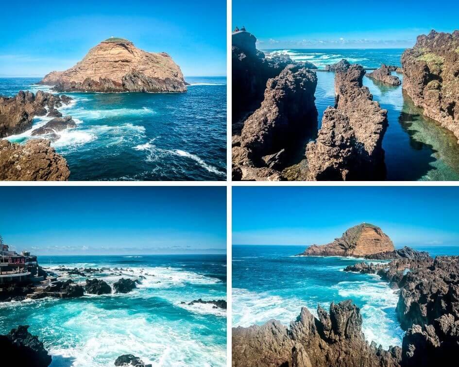 Portugal Madeira Sehenswürdigkeiten Porto Moniz Meer Meerwasserpools