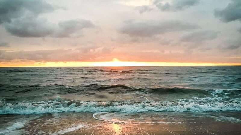 Holland Bergen aan Zee Sonnenuntergang Strand
