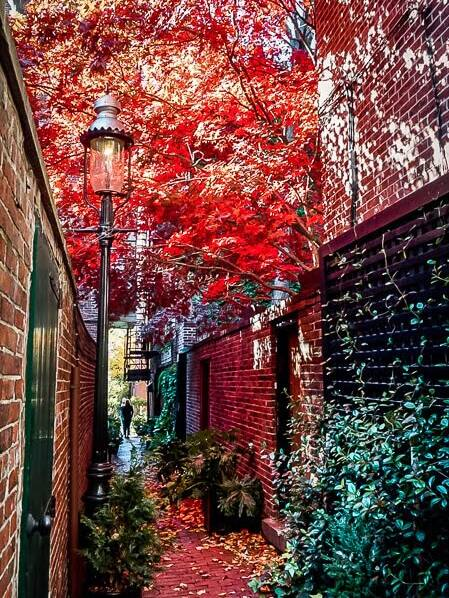 Boston USA Indian Summer Beacon Hill
