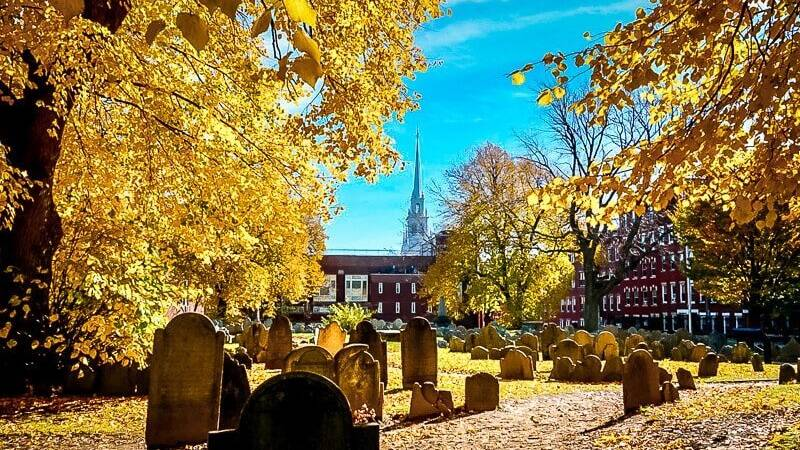 Boston USA Freedom Trail Friedhof
