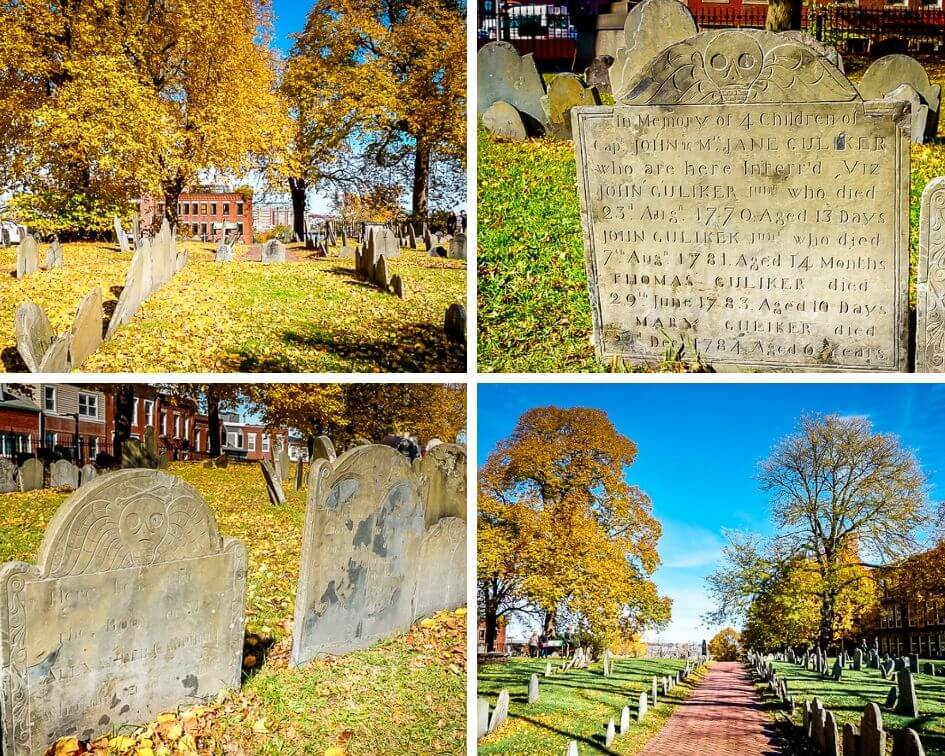 Boston USA North End Friedhof Freedom Trail