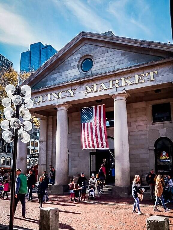 Boston USA Quincy Market Fastfood Freedom Trail