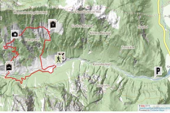 Wilder Kaiser Koasa Trail Wandern Etappe 2 Routenverlauf kurze Variante