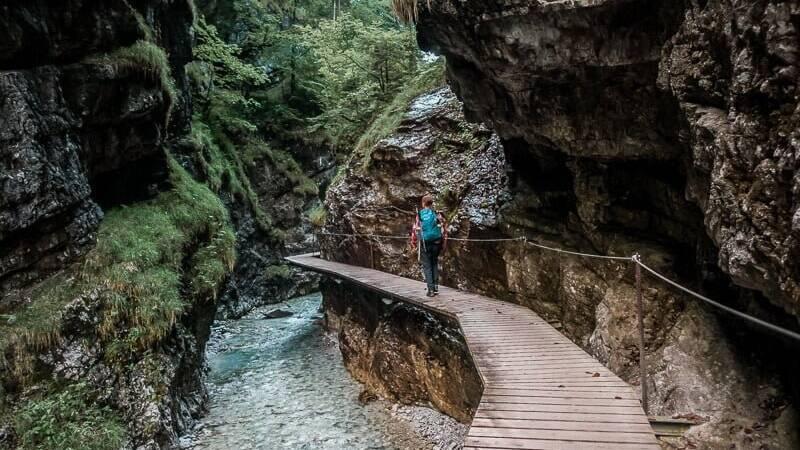 Wilder Kaiser Koasa Trail Wandern Etappe 4 Grießbachklamm Schlucht