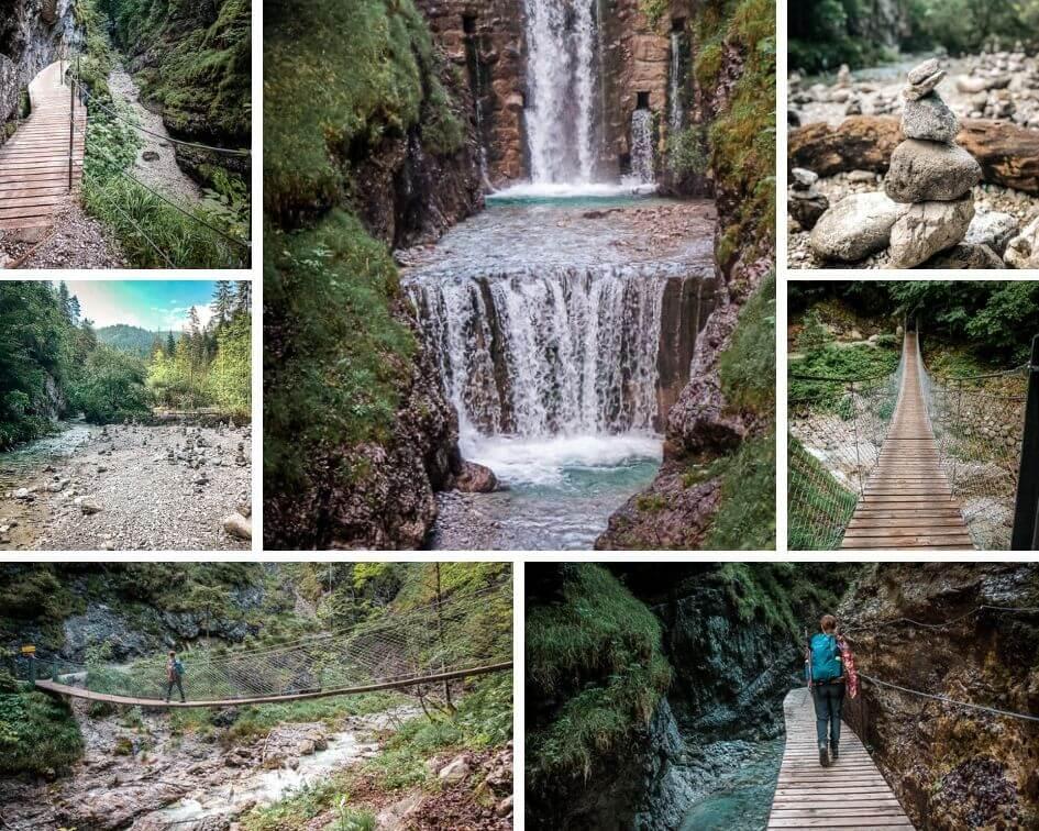 Wilder Kaiser Koasa Trail Wandern Etappe 4 Grießbachklamm Wasserfall