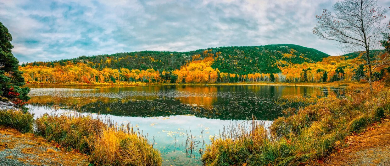 Acadia National Park Indian Summer wandern Jordan Pond