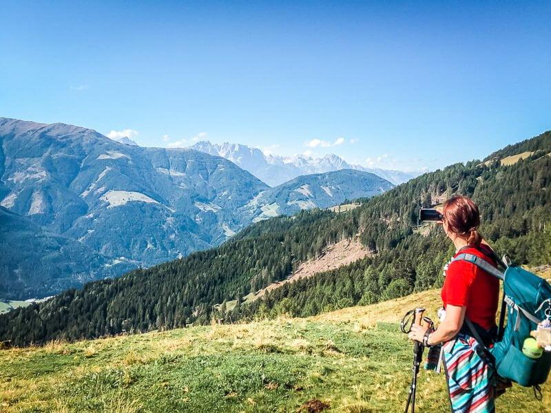 Aussicht auf die Lienzer Dolomiten und Hogen Tauern im Mölltal