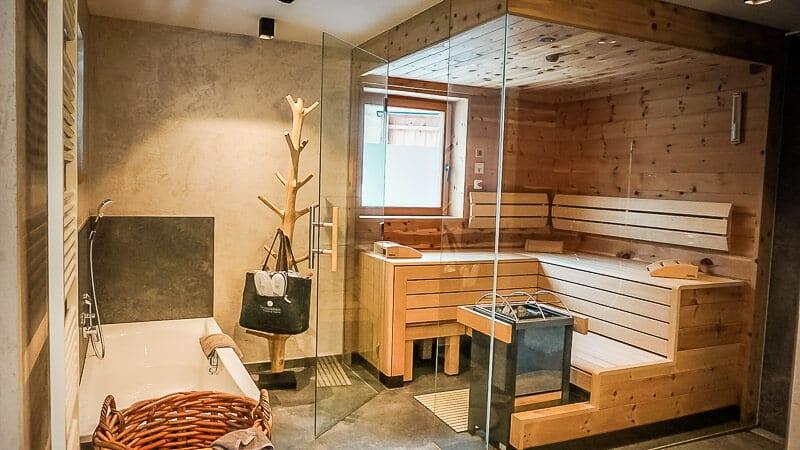 Chalets und Hotel Grosslehen in Fieberbrunn im Pillerseetal Sauna
