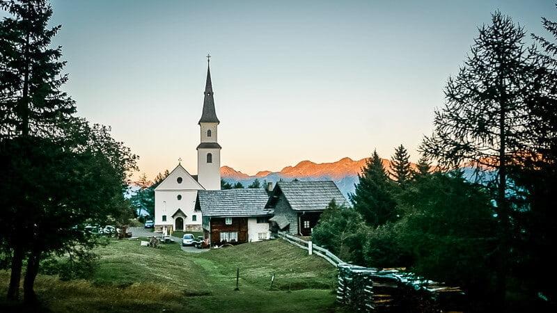 Hohe Tauern Marterle Abendidylle Alpe Adria Trail