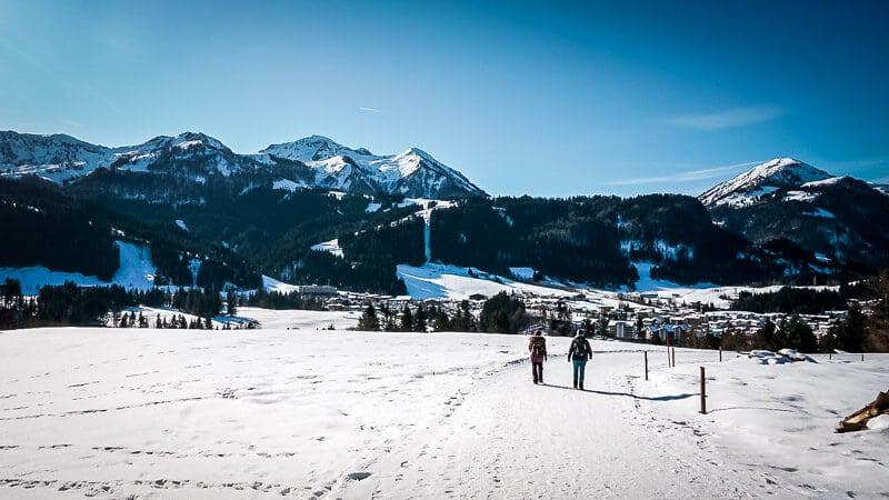 Pillerseetal Buchensteinwandrundweg von Hochfilzen nach Fieberbrunn im Winter