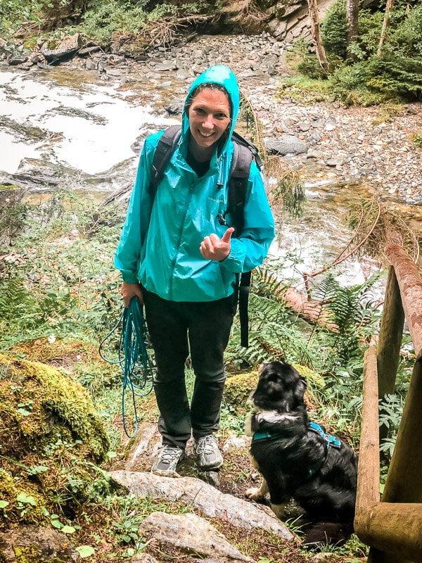 Vandogblog in der Rabischschlucht Alpe Adria Trail Etappe 6