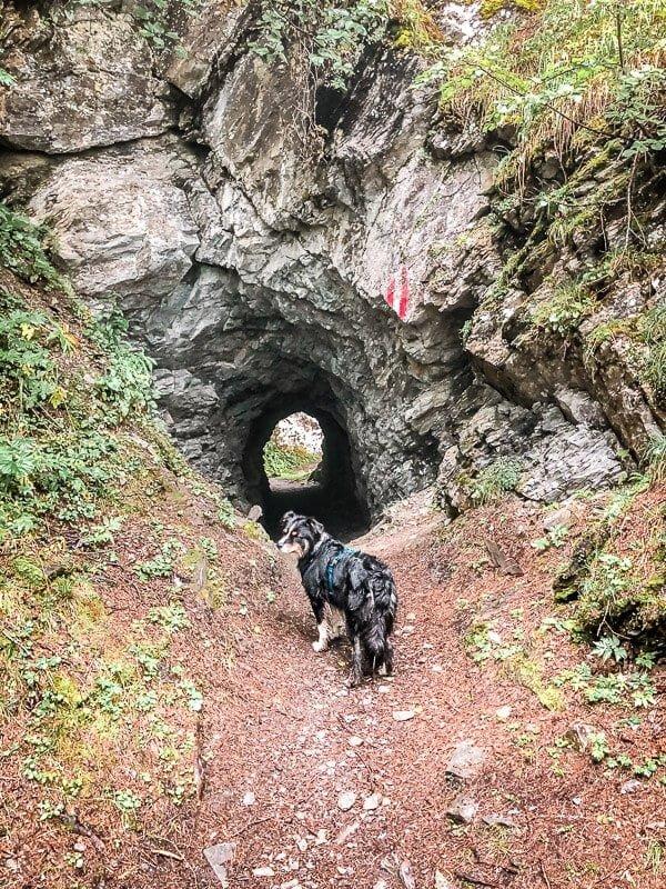 Stollen und Tunnel des Kupferbergbaus auf der Rollbahn im Mölltal