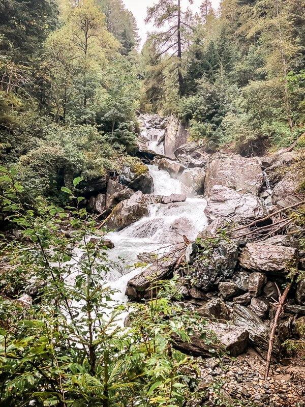 Wasserfall in der Rabischschlucht bei Mallnitz im Mölltal