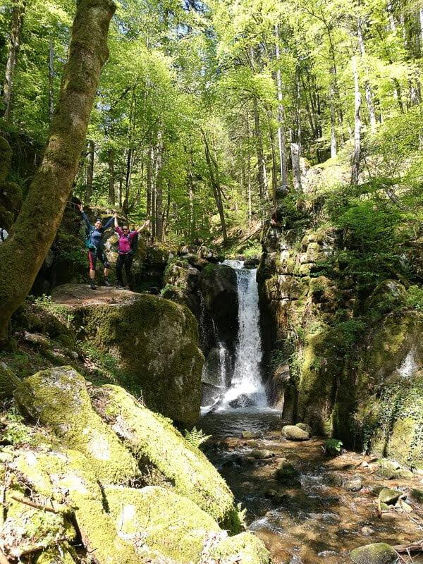 Wasserfall auf dem Fernwanderwege Albsteig im Schwarzwald