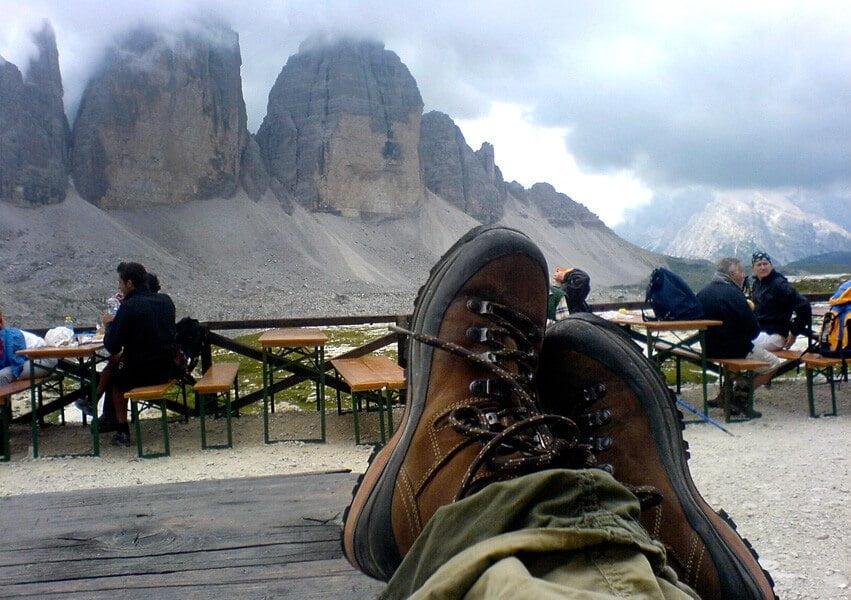 Mehrtagestour Drei Zinnen Rast auf der Hütte in Südtirol
