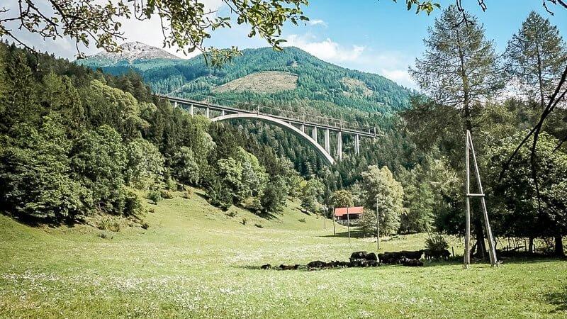 Viadukt der Tauernbahn bei Mallnitz-Obervellach