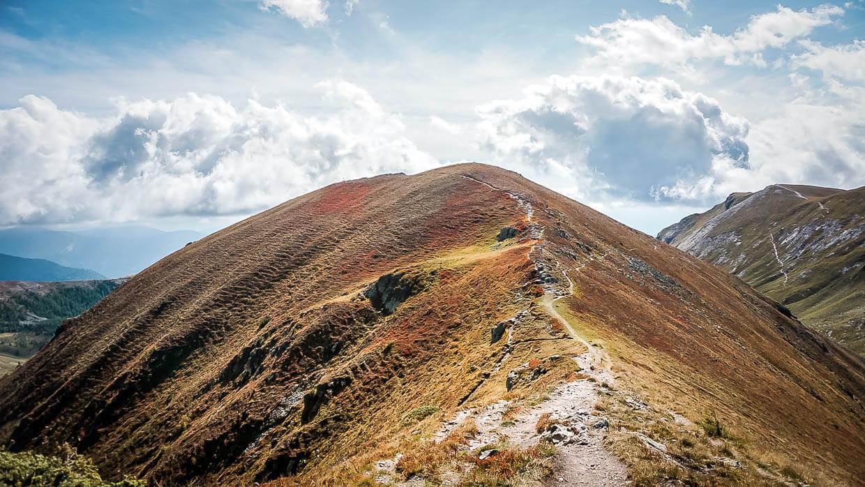 Nockberge in Kärnten auf dem Fernwanderwege Alpe-Adria-Trail