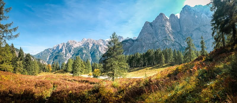 Fernwanderwege Alpe Adria Trail Triglav National Park Slowenien
