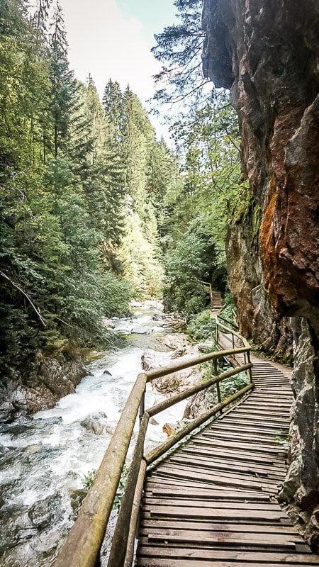 Steganlage Groppensteinschlucht Alpe Adria Trail Etappe 7