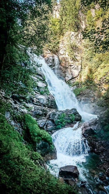 Wasserfall an der Groppensteinschlucht Mallnitz Obervellach
