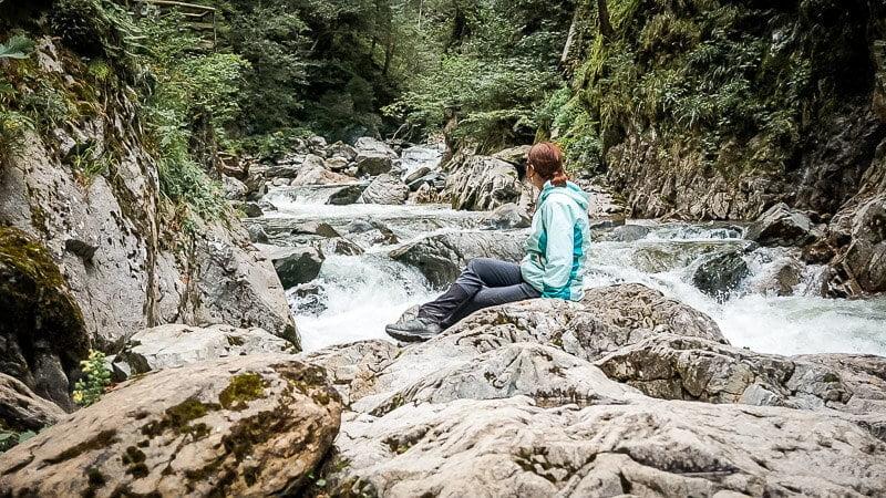 Couchflucht an der Groppensteinschlucht Alpe Adria Trail Etappe 7