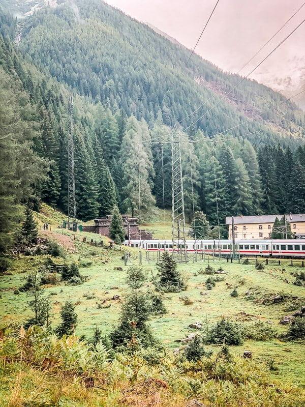 Tauerntunnel in Mallnitz Alpe Adria Trail Etappe 7