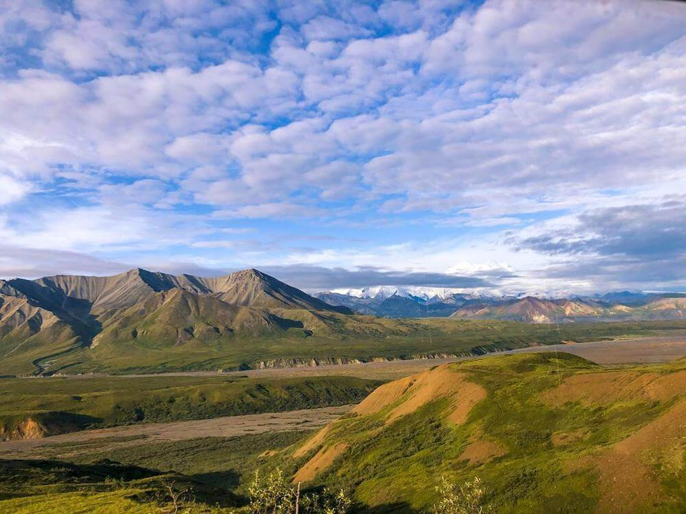 Landschaft abseits der Wege im Denali Nationalpark in Alaska