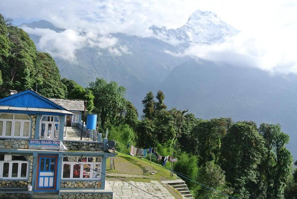 Tea House auf dem Poon Hill Trek in Nepal