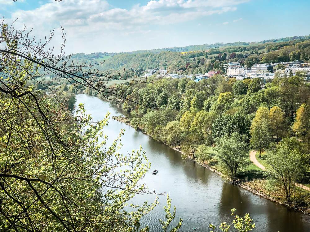 Blick auf die Ruhr in Essen Werden