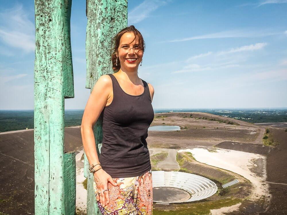 Sabrina von Couchflucht wandert zur Halde Haniel im Ruhrgebiet